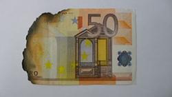Damaged 10 euro